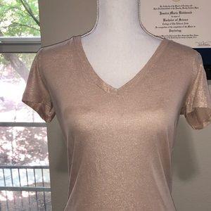 Rosé/Champagne shimmer t-shirt